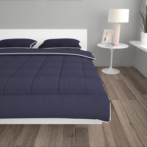 vidaXL 3-tlg. Winter-Bettdecken-Set Stoff Anthrazit 200x200/80x80 cm