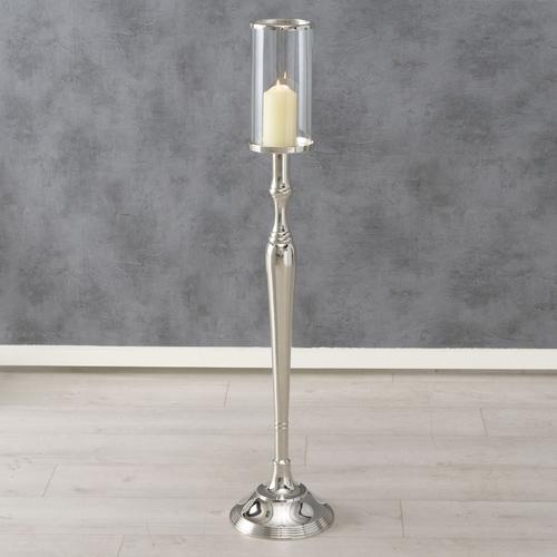 BOLTZE Windlicht Amara, H 109 cm silberfarben Kerzenhalter Kerzen Laternen Wohnaccessoires