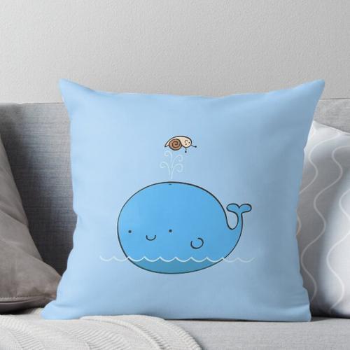 Der Wal und die Schnecke Kissen