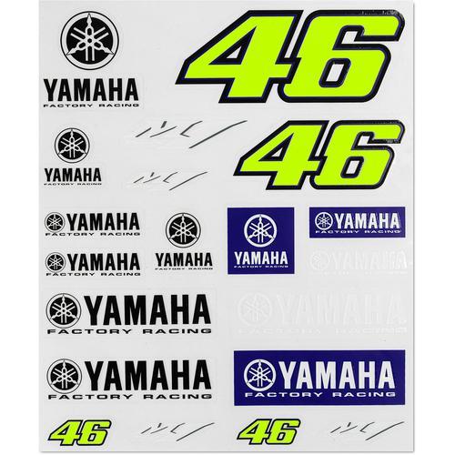 VR46 Racing Aufkleber Set, blau-gelb