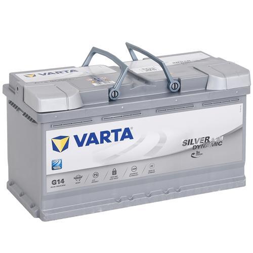 VARTA SILVER dynamic AGM Glasvlies-Akku 12V/ 95Ah, wartungsarm