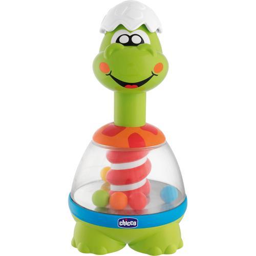 Chicco Tierkreisel Spin Dino, mit Sound bunt Kinder Brummkreisel Baby Kleinkind
