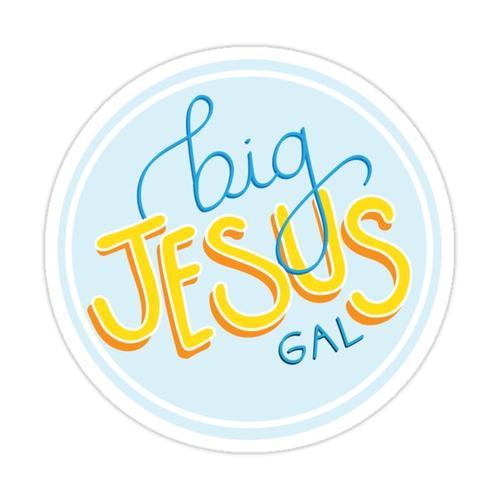 Big Jesus Gal Sticker