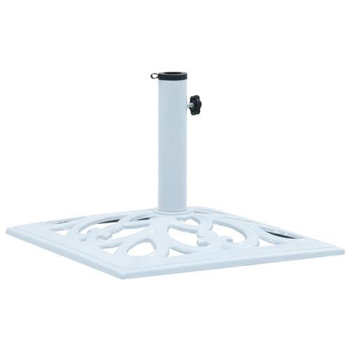 vidaXL Sonnenschirmständer Weiß 12 kg 49 cm Gusseisen