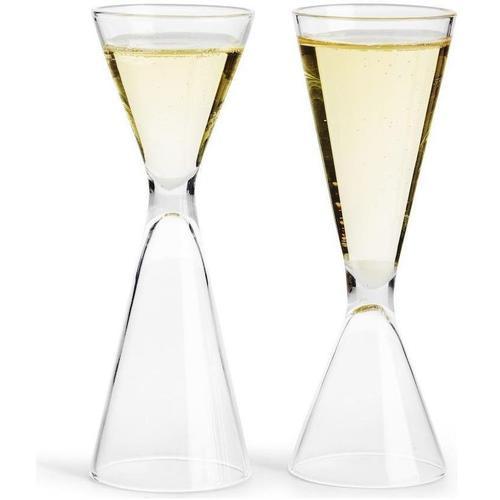 sagaform Schnapsglas, (Set, 6 tlg.), beidseitig befüllbar, inkl. Aufbewahrungsbox, 6-teilig farblos Spirituosengläser Gläser Glaswaren Haushaltswaren Schnapsglas
