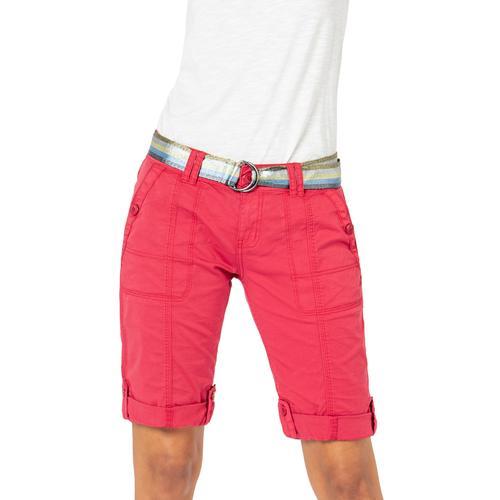 Fresh Made Bermudas, mit Gürtel rot Damen Kurze Hosen Bermudas
