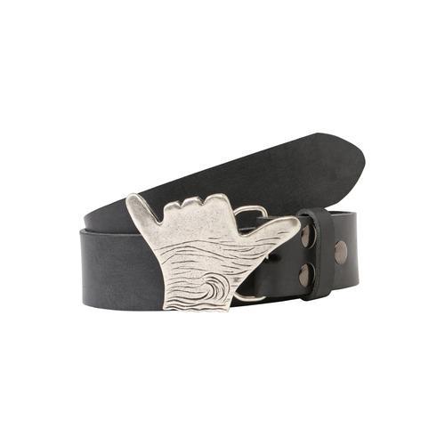 RETTUNGSRING by showroom 019° Ledergürtel, mit lässigem Schnallenmotiv grau Damen Ledergürtel Gürtel Accessoires