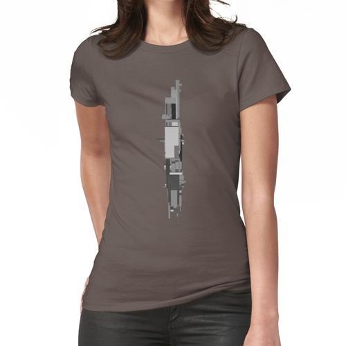 Bauhaus-Graustufen-Turm Frauen T-Shirt