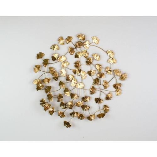 VOSS Design Wandobjekt Ginko gold 79x3x80 cm