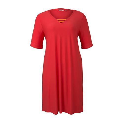 TOM TAILOR MY TRUE ME Damen Schlichtes Basic Kleid, rosa, Gr.46