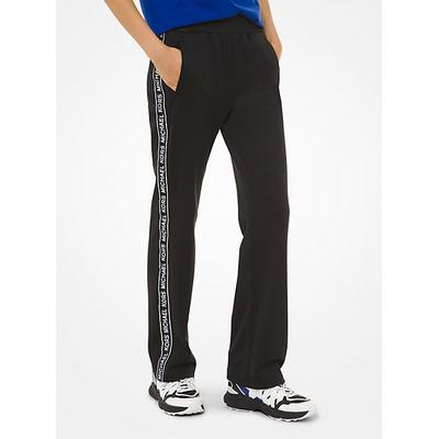 Michael Kors Logo Tape Ponte Track Pants Black XXS