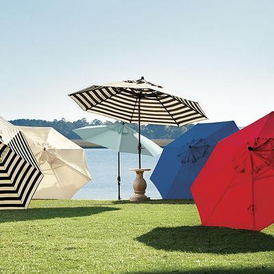Auto Tilt Patio Umbrella Canvas Taupe Sunbrella - Ballard Designs