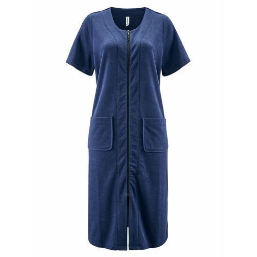 Avena Damen Frottee-Hauskleid Maritim Blau