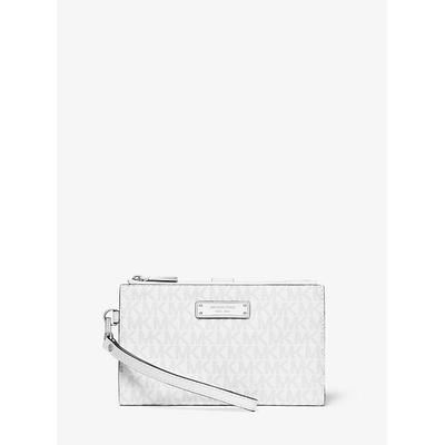 Michael Kors Adele Logo Smartphone Wallet White One Size