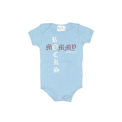 Baby Rock Apparel Short Sleeve Onesie: Blue Print Bottoms - Size 6-12 Month