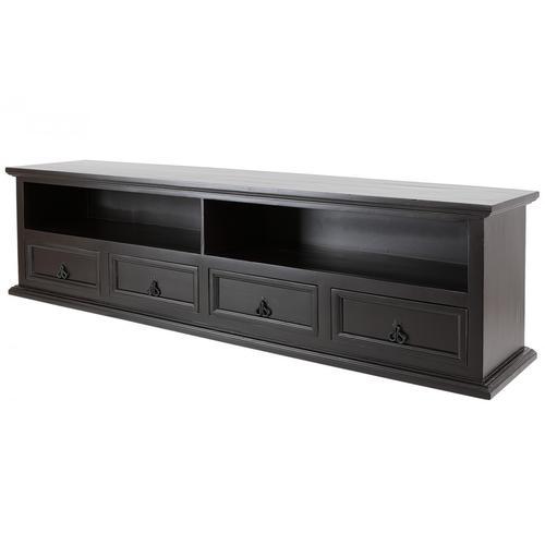 Großes TV Lowboard - TV-Tisch - Kolonialstil - kolonialfarben - 200 cm - Massivholz