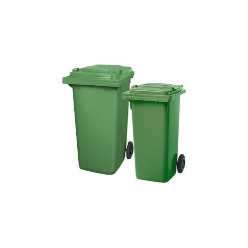 BRB Set mit 1x DIN Mülltonne 120 Liter grün und 1x DIN Mülltonne 240 Liter grün