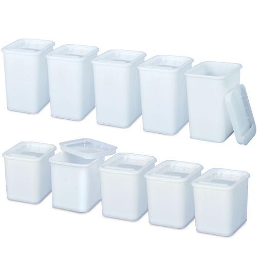 BRB Set mit 10 Vorratsdosen in Gastronomiequalität, 5X 2 Liter, 5X 3 Liter, mit Deckel