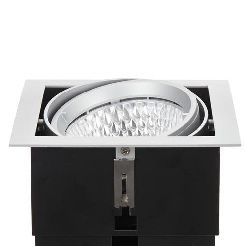Arcchio Adin LED-Einbaulampe, 3.000K, 40,2W, grau