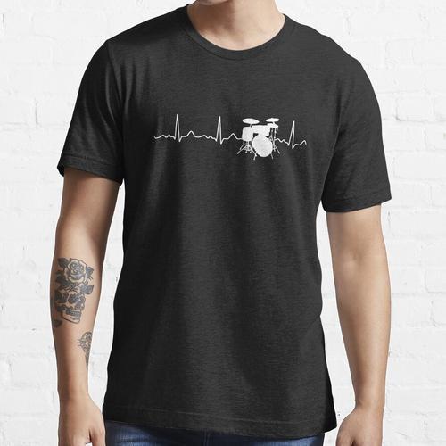 Schlagzeug - Herzschlag / Herzfrequenz / Puls Essential T-Shirt