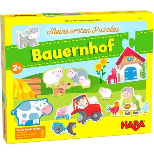 HABA Meine ersten Puzzles – Bauernhof, bunt