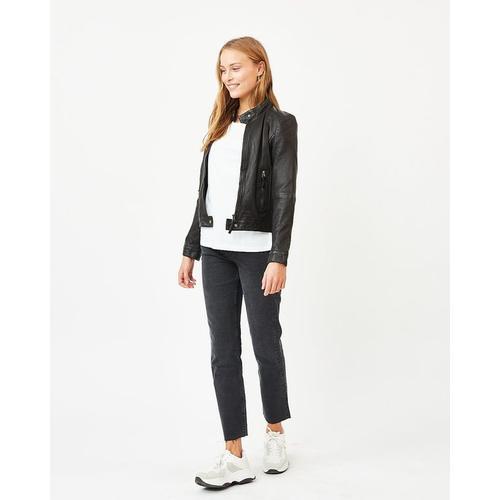 Minimum Becksy schwarze Lederjacke