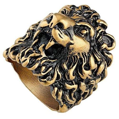 Gucci Löwenkopf-Ring mit mehrfarbigen Kristallen