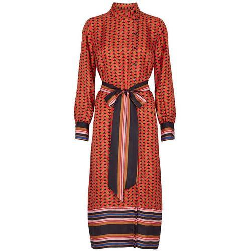 Second Female Fliesen Midi-Kleid