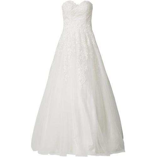 Luxuar Brautkleid aus Tüll mit Häkelspitze