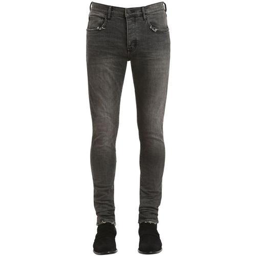 Purple Enge, Beschichtete Jeans Aus Denim Mit Rissen
