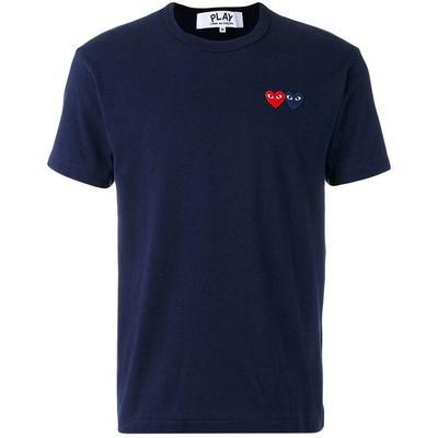 COMME DES GARÇONS PLAY T-shirt à logo brodé