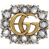 Gucci Broche Double G en métal a...