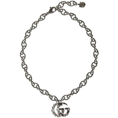 Gucci Collier argente Crystal GG
