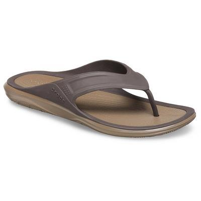 Crocs Espresso / Walnut Men's Swiftwater™ Wave Flip Shoes
