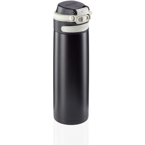 Leifheit Thermoflasche Flip, 600 ml schwarz Aufbewahrung Küchenhelfer Haushaltswaren