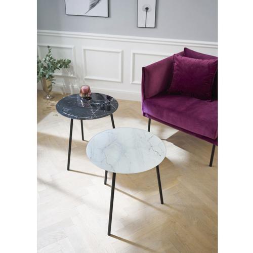 Schneider Beistelltisch, Maße (B/T/H): 50/50/50 cm weiß Beistelltische Tische Beistelltisch