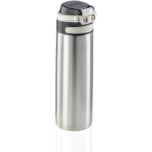 Leifheit Thermoflasche Flip, 600 ml silberfarben Aufbewahrung Küchenhelfer Haushaltswaren
