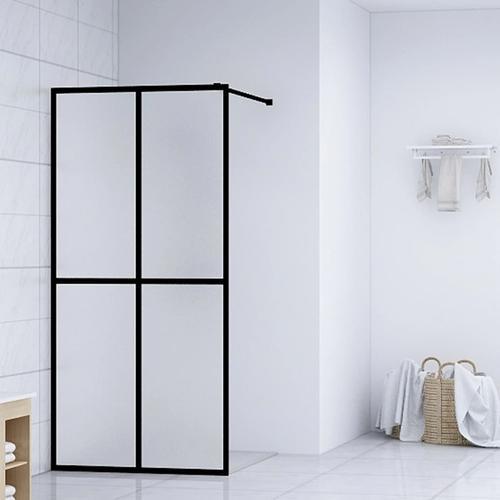 vidaXL Duschwand für Begehbare Dusche Hartglas 118×190 cm