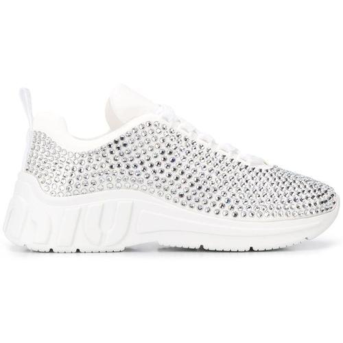 Miu Miu Sneakers mit Kristallen