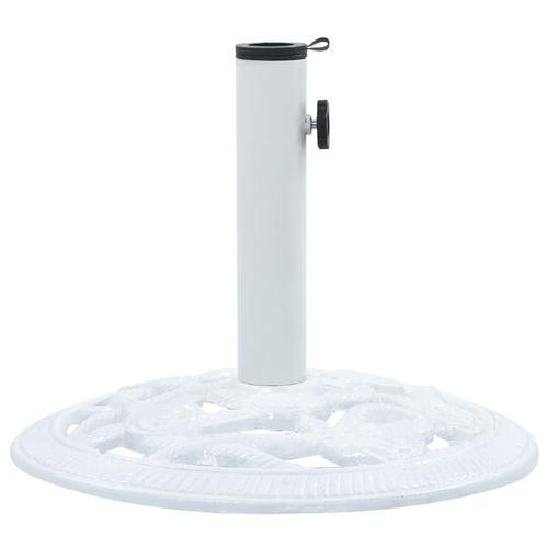 vidaXL Sonnenschirmständer Weiß 9 kg 40 cm Gusseisen