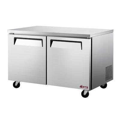 """Turbo Air EUR-60-N6 60 1/4"""" W Undercounter Refrigerator w/ (2) Sections & (2) Doors, 115v"""