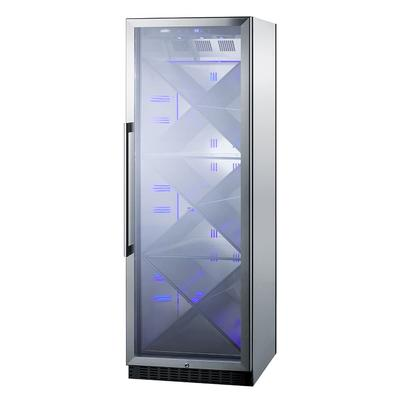 """Summit SCR1401XCSS 24"""" One Section Wine Cooler w/ (1) Zone - 80 Bottle Capacity, 115v"""