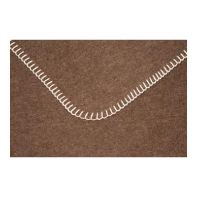 WOLLZEIT - Brown Blanket with Wh...
