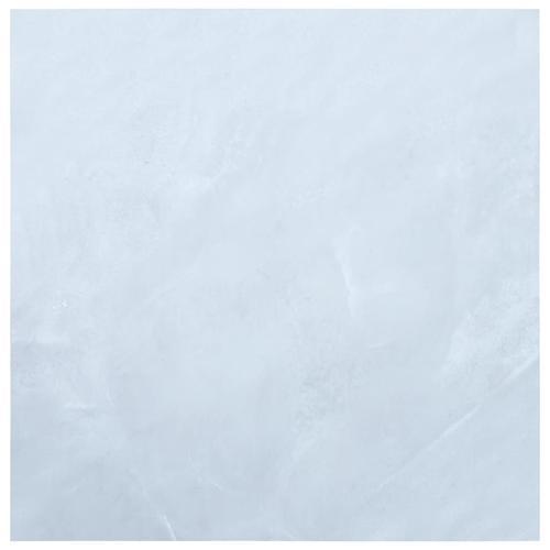 vidaXL Laminat Dielen Selbstklebend 5,11 m² PVC Weißer Marmor