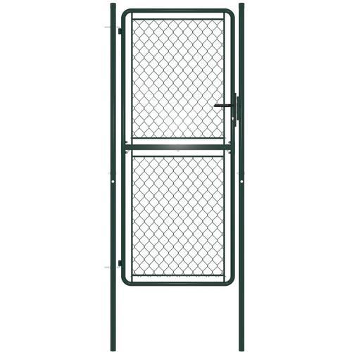 Gartentor Stahl 100×175 cm Grün
