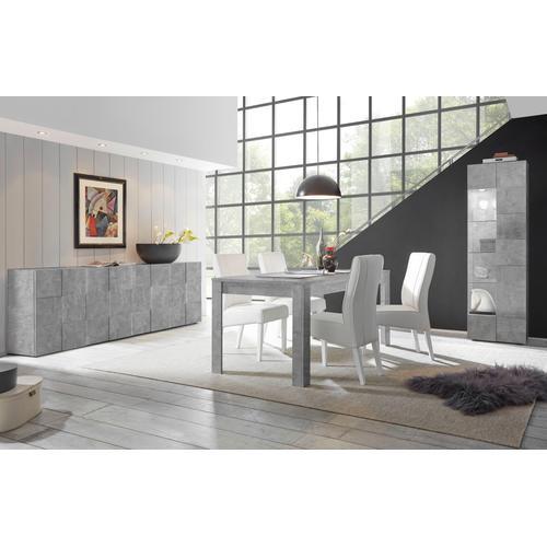 LC Esstisch Dama,Breite 180, erweiterbar durch Ansteckplatte grau Ausziehbare Esstische Tische