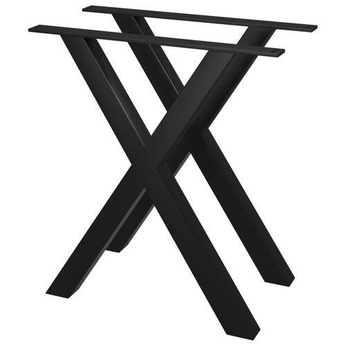 vidaXL Esstischbeine 2 Stk. X-Gestell 70×72 cm