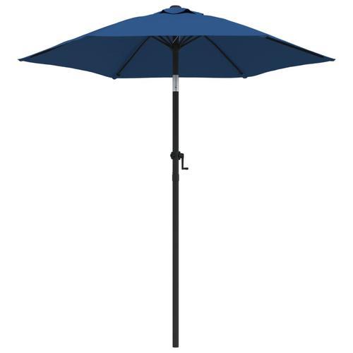vidaXL Sonnenschirm Blau 200 x 211 cm Aluminium