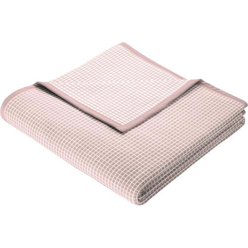 BIEDERLACK Wohndecke New Cotton, leichte Webdecke rosa Baumwolldecken Decken