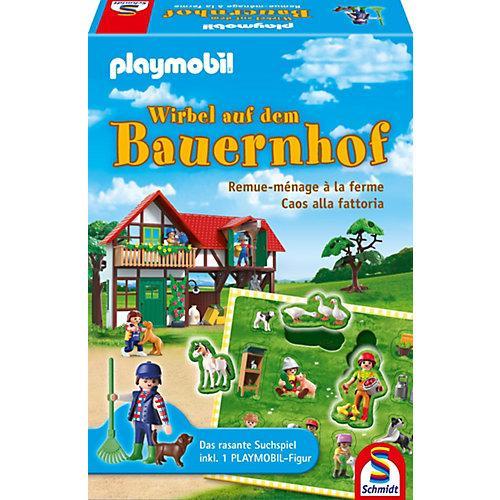 PLAYMOBIL® Puzzle-Duell Spiel inkl. Playmobil-Figur, Wirbel auf dem Bauernhof